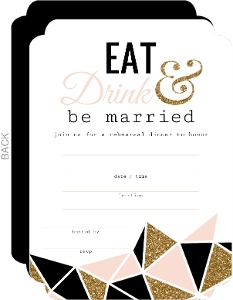 Modern Geometric Glitz Fill In the Blank Rehearsal Dinner Invitation