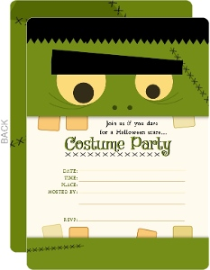 Frankstein Halloween Party Fill-in-the-blank Invitation