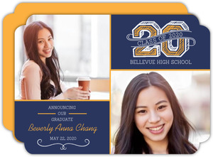 School Color Year Sketch Graduation Announcement