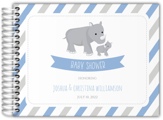 Rhino  Stripes Baby Shower Guest Book