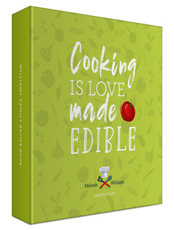 Love Made Edible Recipe 3 Ring Binder
