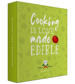 Love Made Edible Recipe 3 Ring Binder 6x8