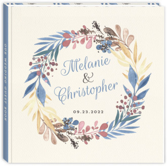 Delicate Watercolor Foliage Wedding Guest Book