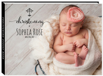 Simply Adorable Christening Guest Book