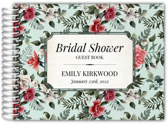 Vintage Rose Bridal Shower Guest Book