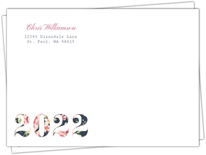 Simple Vintage Floral Custom Envelope