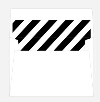 Black and White Striped Envelope Liner