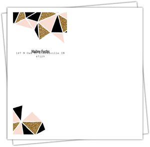 Modern Geometric Glitz Custom Envelope