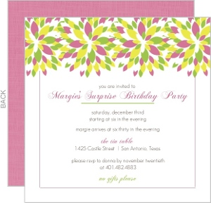 Bright Floral 60Th Birthday Invitation - 2946