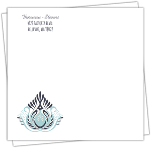 Something Blue Wedding Custom Envelope