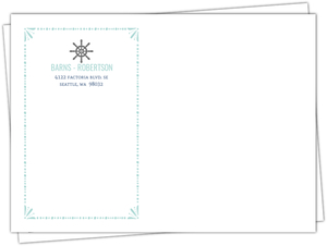 Nautical Mint And Gray Envelope