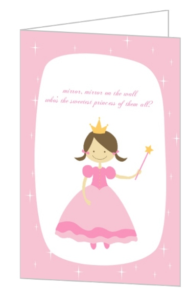 Little Sweet Pink Princess Birthday Card