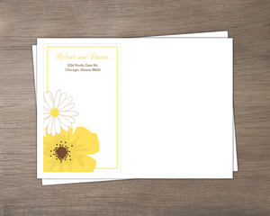 Simple And Classic Yellow Flower Envelope