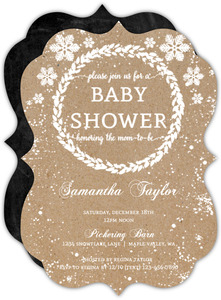Kraft Snowfall Babyshower Invitation