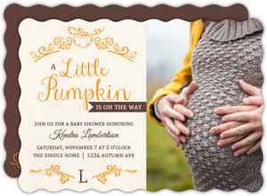 Whimsical Little Pumpkin Baby Shower Invitation