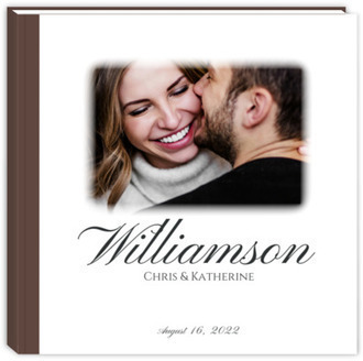 Gradient Photo Frame Wedding Guest Book