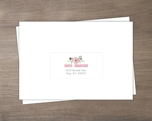 Delicate Pink Watercolor Mailing Address Envelope