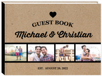 Kraft Photo Line Wedding Guest Book