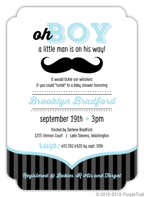 Blue and black moustache boy baby shower invites boy baby shower blue and black moustache boy baby shower invites filmwisefo