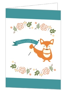 Woodland Fox Welcome Little Baby Card