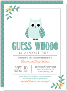Owl baby shower invitations filmwisefo