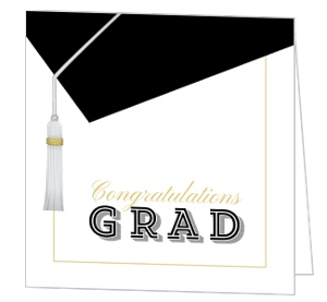 Classic and Modern Graduation Cap Greeting Card