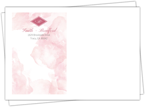 Delicate Pink Watercolor Envelope