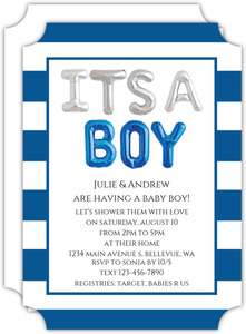 It's A Boy Balloons Baby Shower Invitation