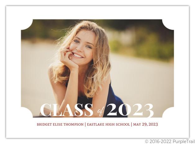 classic frame graduation announcement - Graduation Announcement Cards