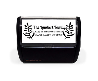 Whimsical Foliage Family Address Stamp