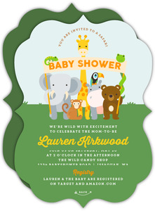 Animal Banner Safari Baby Shower Invitation