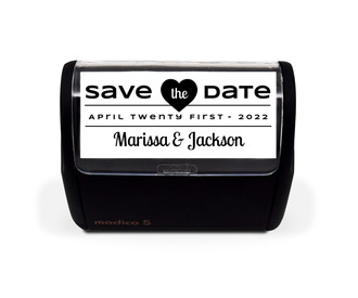 Simple Statement Save The Date Stamp