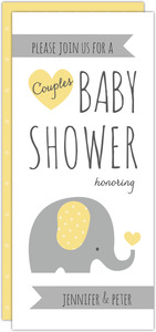 Elephant Couples Baby Shower Invitation