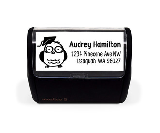 Doodle and Sketch Graduation Address Stamp