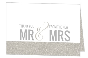Glitter Wonderland Wedding Thank You Card