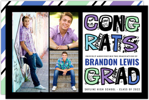 Fun Graffiti Graduation Photo Announcement