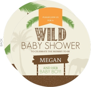 Boy Jungle Safari Baby Shower Invitation