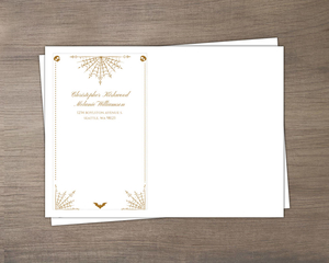Elegant Night Web Halloween Wedding Envelope