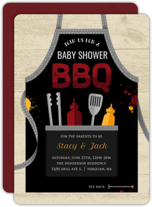 Fun April BBQ Baby Shower Invitation