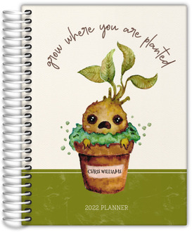 Mandrake Watercolor Plant Daily Planner