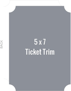 Create Your Own 5x7 Ticket Die Card