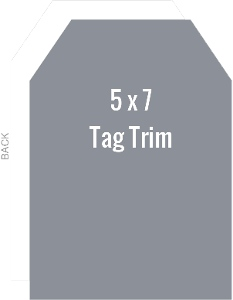 Create Your Own 5x7 Tag Die Card