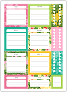 Teacher Tropical Leaves Custom Planner Stickers