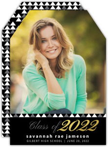 Gold Foil Class Of Graduation Announcement
