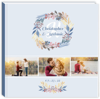 Whimsical Watercolor Wreath Wedding Guest Book