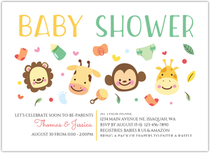 Brown Lion Boy Jungle Safari Couples Baby Shower