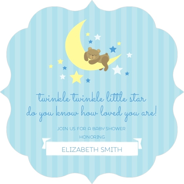 Twinkling little stars and moon baby shower invitation boy baby twinkling little stars and moon baby shower invitation filmwisefo Gallery