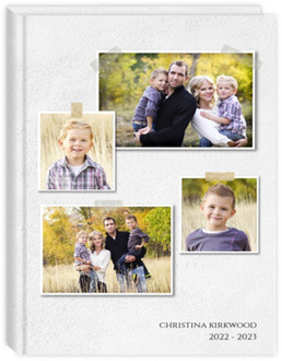 Adhesive Taped Photos Mom Planner