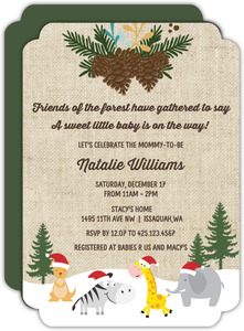 Winter Safari Baby Shower Invitation