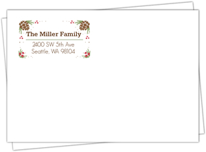 Personalized Chalkboard Holiday Return Address Envelope